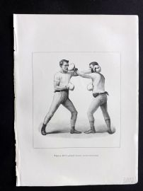 Badminton Library 1893 Antique Boxing Print. Left Hand Cross-Counter